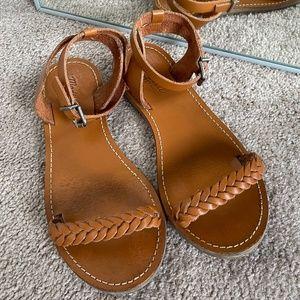 Madewell Leather Braided Sightseer Summer Sandal
